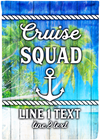 Awesome Cruise Squad Personalized Flag - personalized camping sign