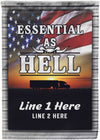 Essential as Hell Truck Driver Personalized Flag - personalized camping sign