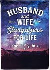 Amazing Husband & Wife Stargazers for Life Personalized Flag - personalized camping sign