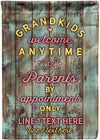 Awesome Personalized Grandparents Garden Flag - personalized camping sign