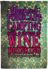 Awesome Wine Lovers Camping Flag - personalized camping sign