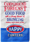 Campground Forecast Personalized Campsite Flag! - personalized camping sign