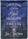 Forgetting All Our Adult Problems Flag - personalized camping sign