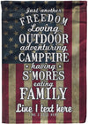 Freedom Loving Camper Flag - personalized camping sign