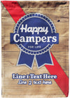 Happy Campers for Life Personalized Camp Flag - personalized camping sign