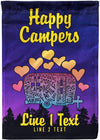 Happy Campers Personalized Campsite Flag - personalized camping sign