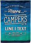 Happy Campers Starry Night Camping Flag - personalized camping sign