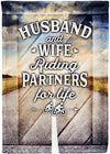 Husband and Wife Cycling Partners for Life - personalized camping sign