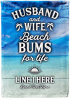 Husband & Wife Beach Bums for Life Flag - personalized camping sign