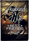 Husband & Wife Best Friends for Life Personalized Garden Flag - personalized camping sign