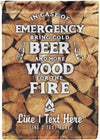 In Case Of Emergency Bring Beer Camp Flag - personalized camping sign