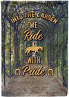 Into the Garden we Ride with Pride - personalized camping sign