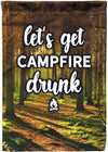 Let's Get Campfire Drunk Flag - personalized camping sign