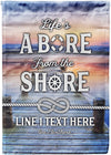 Life's a Bore From The Shore Personalized Flag - personalized camping sign