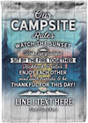*NEW* Our Campsite Rules Customized Flag - personalized camping sign