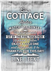 Our COTTAGE Rules Customized Flag - personalized camping sign