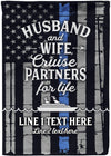 Personalized Blue Line Cruise Flag - personalized camping sign