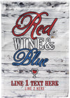Red Wine & Blue Personalized Flag - personalized camping sign