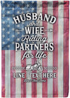Riding Partners for Life Rustic Personalized Flag - personalized camping sign
