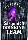 Sasquatch Drinking Team Camping Flag - personalized camping sign