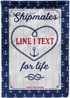 Shipmates for Life Personalized Cruise Flag - personalized camping sign