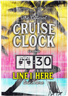 The Official Cruise Clock Flag - personalized camping sign