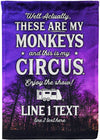 These Are My Monkeys and This is My Circus Flag - personalized camping sign