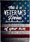 Veteran Lives Here Yard Flag - personalized camping sign
