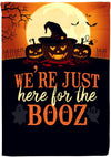 we're just here for the booz flag - personalized camping sign