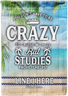 You Don't Have to be Crazy to Cruise with Us Personalized Flag - personalized camping sign