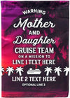 Personalized Mother and Daughter Cruise Team Flag - personalized camping sign