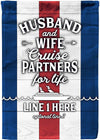 Husband & Wife Cruise Partners for Life Personalized Flags