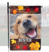 Personalized Autumn Labrador Flag