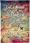 Let's Keep The Distance For Now Personalized Flag - personalized camping sign
