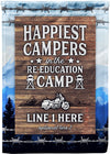 Husband and Wife Riding Partners for Life Flag - personalized camping sign