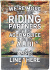 More Than Just Riding Partners Personalized Flag - personalized camping sign