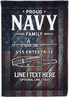 Amazing Proud Navy Family USS Enterprise Custom Flag! - personalized camping sign