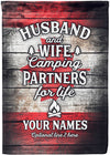 Husband and Wife Camping Partners For Life Canadian Freedom Edition - personalized camping sign