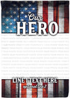Our Hero Personalized Family Flag