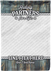 Riding Partners for Life Amazing Photo Flag For Your Loved One - personalized camping sign