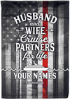 Husband & Wife Cruise Partners Red Line Edition! - personalized camping sign