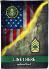 Awesome Personalized Army Rank Flag