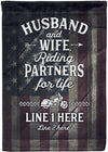 🦅 Husband and Wife Riding Partners for Life Flag