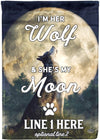 I'm Her Wolf She's My Moon Personalized Flag - personalized camping sign