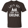 Let's Get ______ Drunk Cotton Tee - personalized camping sign