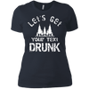 Let's Get ____Drunk Ladies' T-Shirt - personalized camping sign