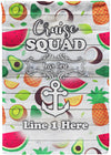 Tropical Fruits Cruise Squad Flag - personalized camping sign