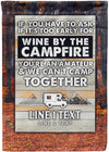 *NEW* Wine By The Campfire Personalized Camp Flag! - personalized camping sign