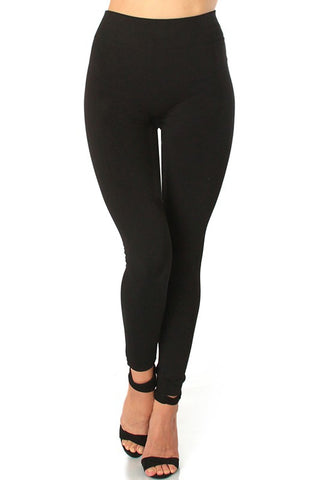 Plus Size Black Fleece Lined Leggings