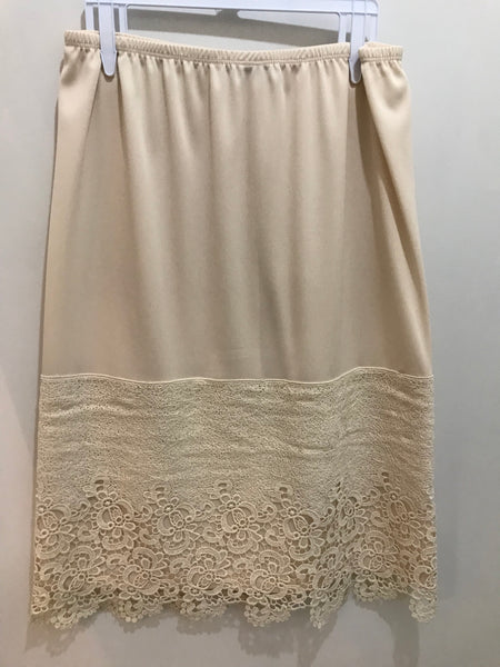 Natural Cream Large Panel Lace Slip Extender